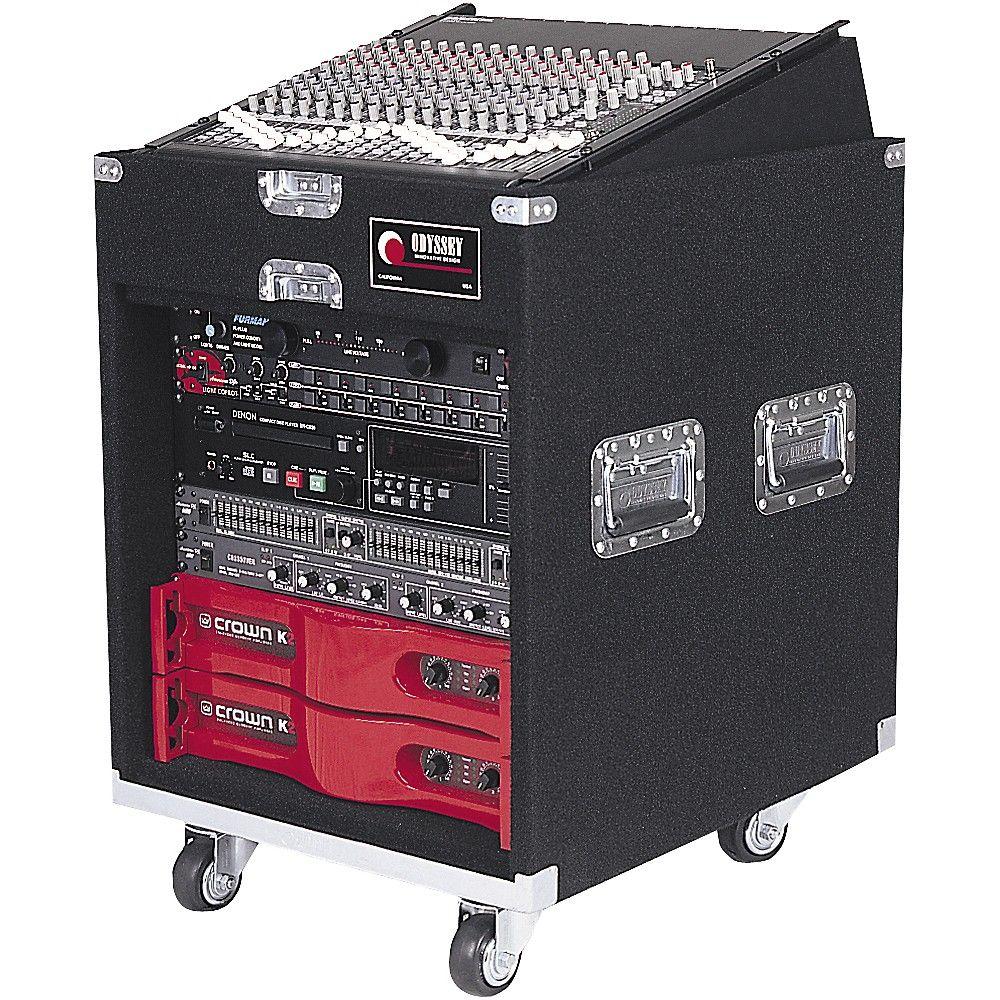 Odyssey Cxp1110w Carpeted Pro Combo Case W Wheels In 2020 Dj Equipment Audio Amplifier Speaker Plans