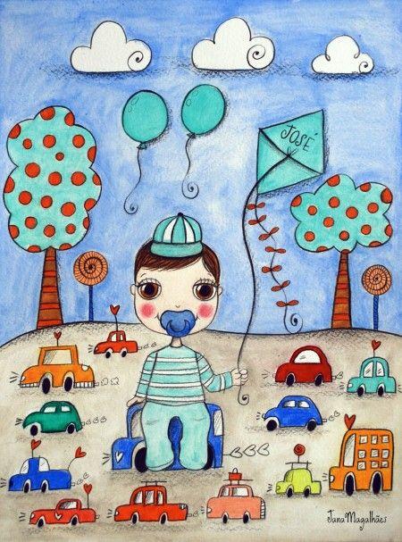 Jana Magalhães|Ilustrações para maternidade