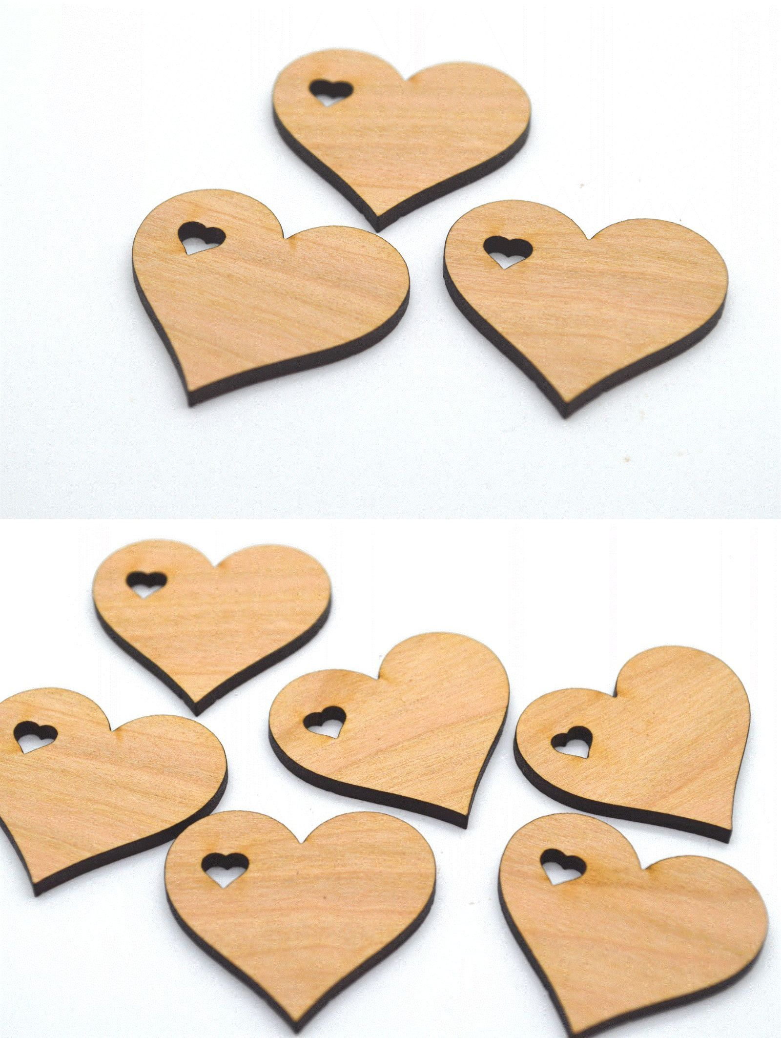 Wooden Pieces 71178: Wedding Favors: 100 Cherry Wood Laser Cut ...