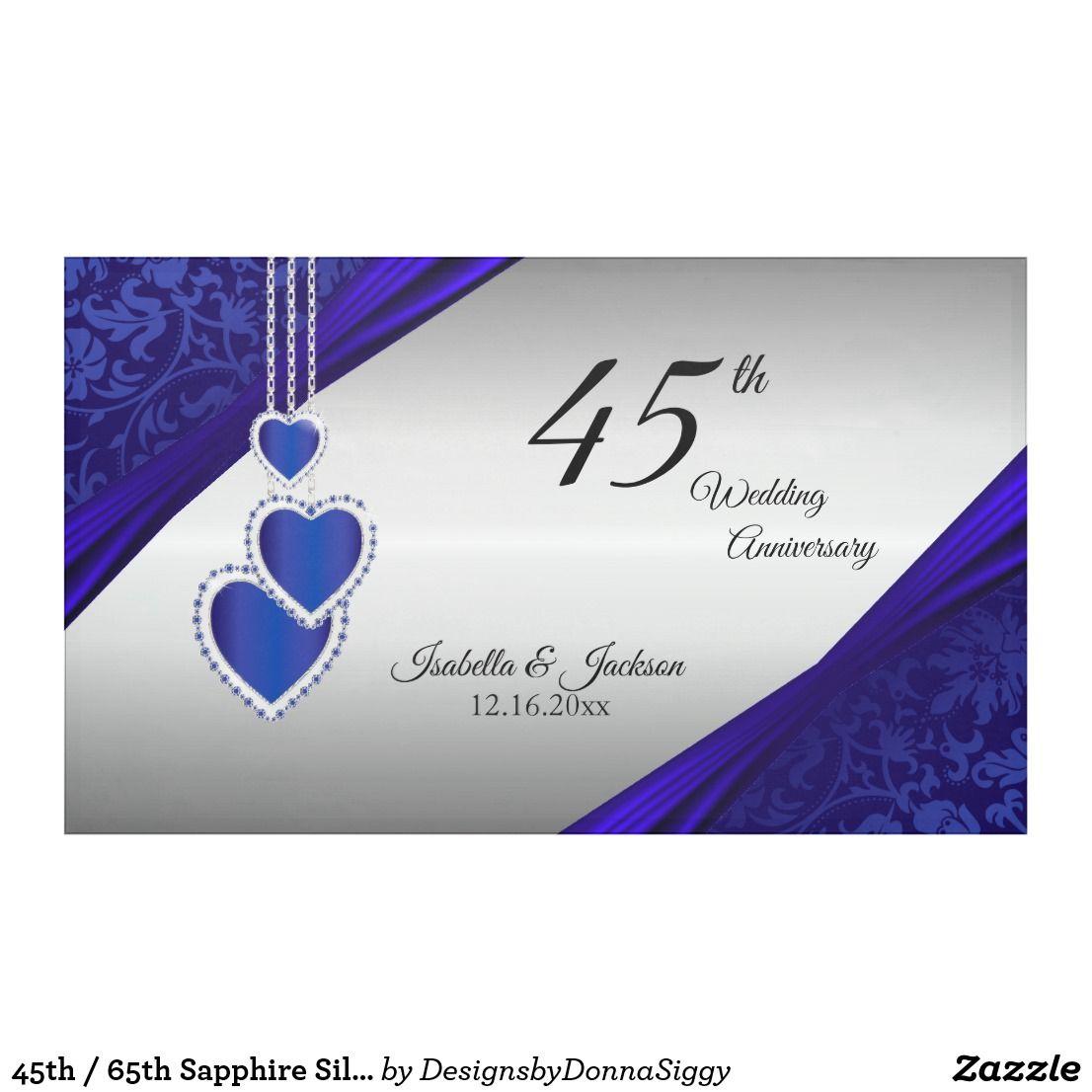 45th 65th Sapphire Silver Anniversary Design Banner Zazzle Com Silver Anniversary Banner Design 45th Wedding Anniversary