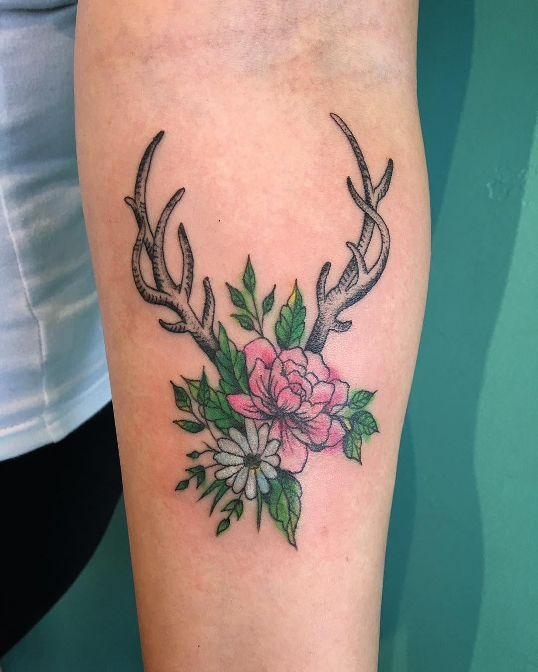 Simple Antler Tattoo: Antler Tattoos, Small Wrist Tattoos