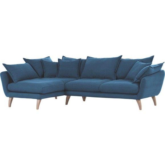 WOHNLANDSCHAFT in Blau Textil - Polstermöbel - Polstermöbel, Sofas ...