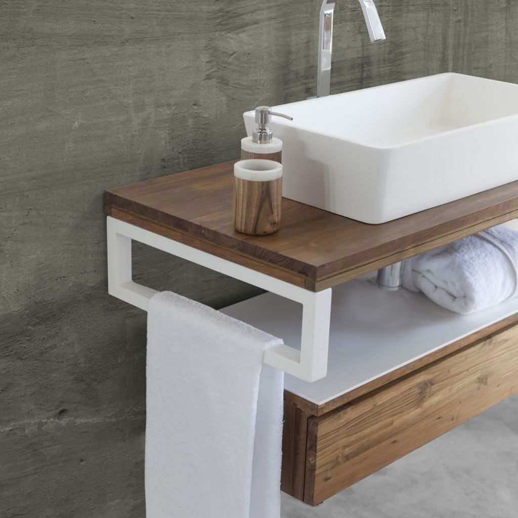 Arredo Bagno Sospesa Easy White Pertaining To Mobili Porta