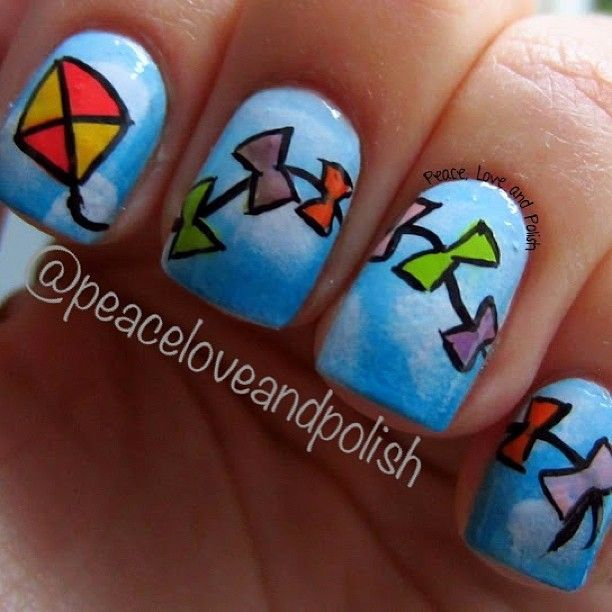 peaceloveandpolish kite #nail #nails #nailart | Spring Nails ...