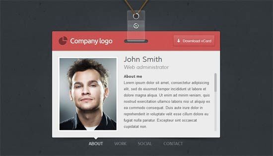 Id Vcard Is An Unique Premium Vcard For Personal Website Personal Website Templates Website Template Personal Website