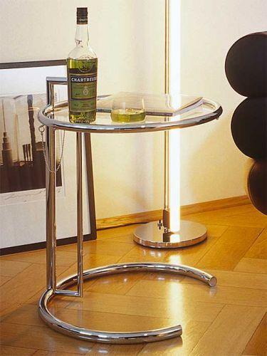 Eileen Gray Beistelltisch beistelltisch adjustable table classicon cairo de schicke