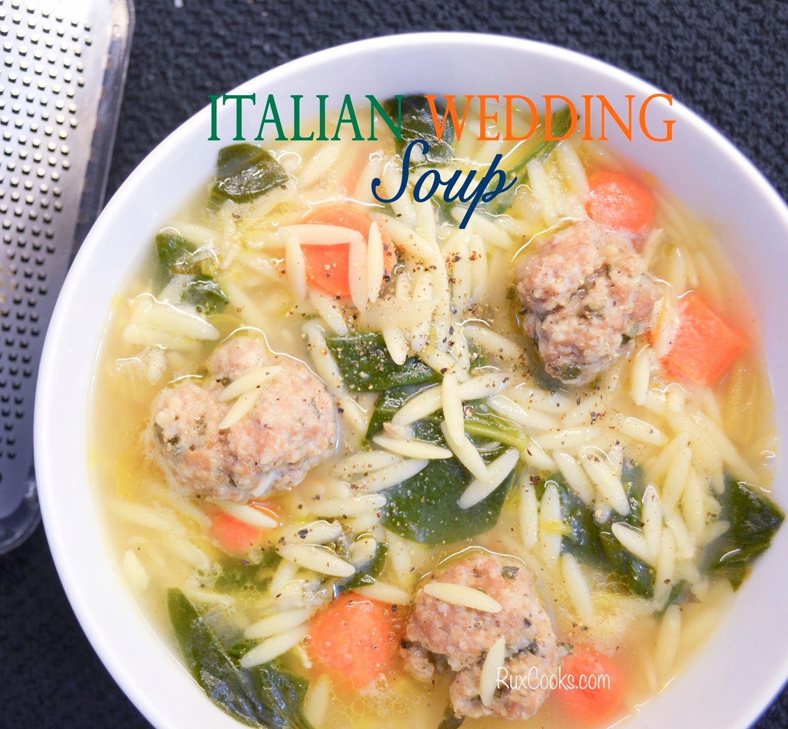 Italian Wedding Soup. Low Calorie Italian Wedding Soup