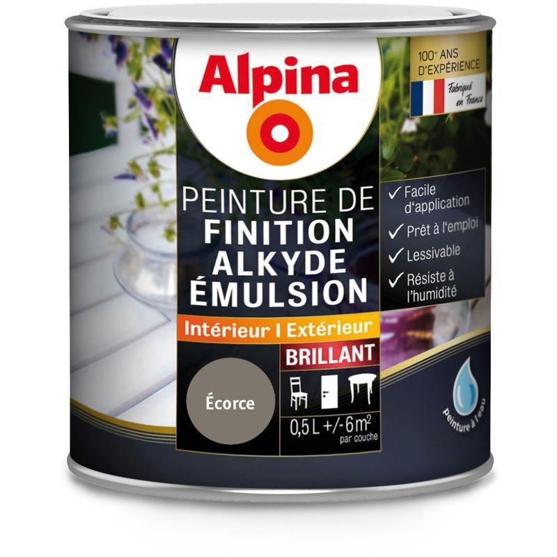Peinture Alpina Alkyde émulsion 0 5l Brillant Finition