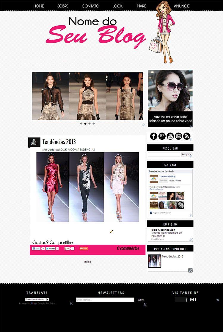 Templates para Blogs Femininos