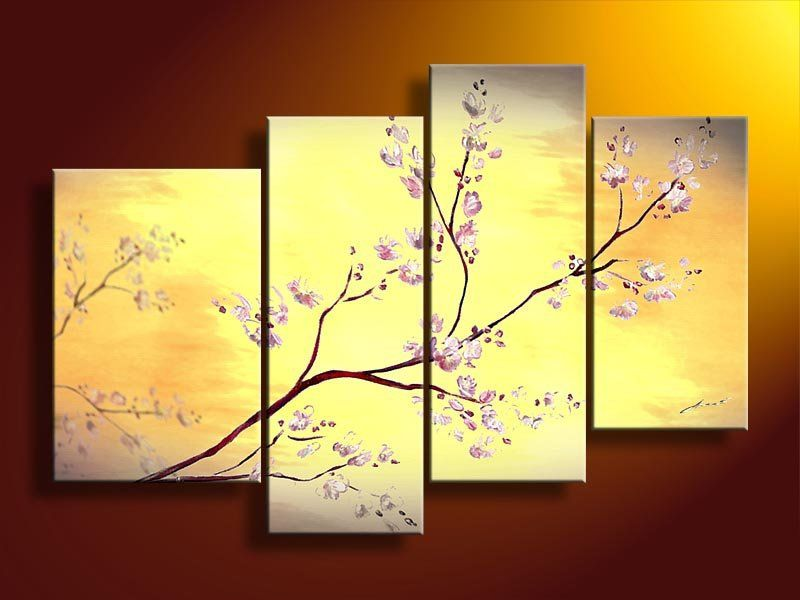 4159 handpainted 4 piece modern decorative oil painting on canvas ...