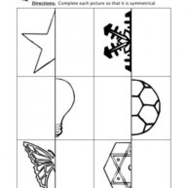 Symmetry Worksheet Basic Shapes And Symmetry In Art Pinterest