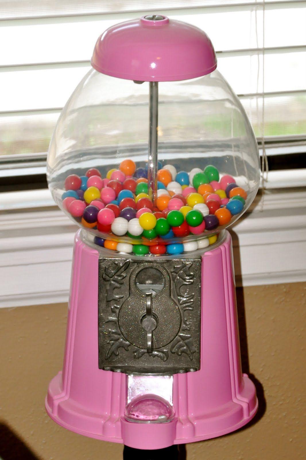 Vintage Pink Gumball Machine | vintage pink gumball ...