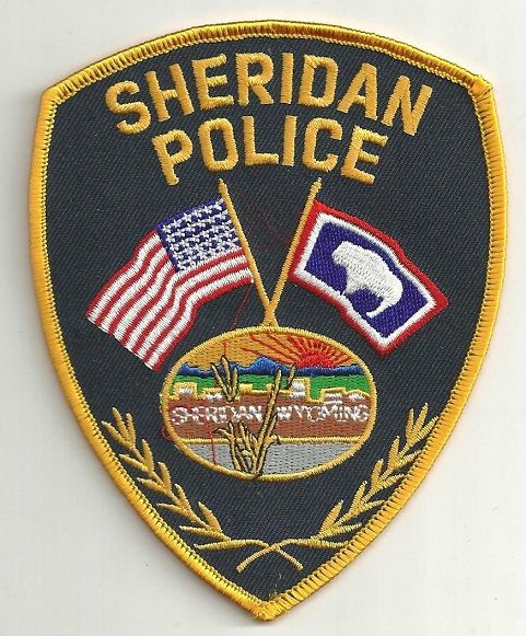 Sheridan PD WY | LE patches | Police patches, Local police