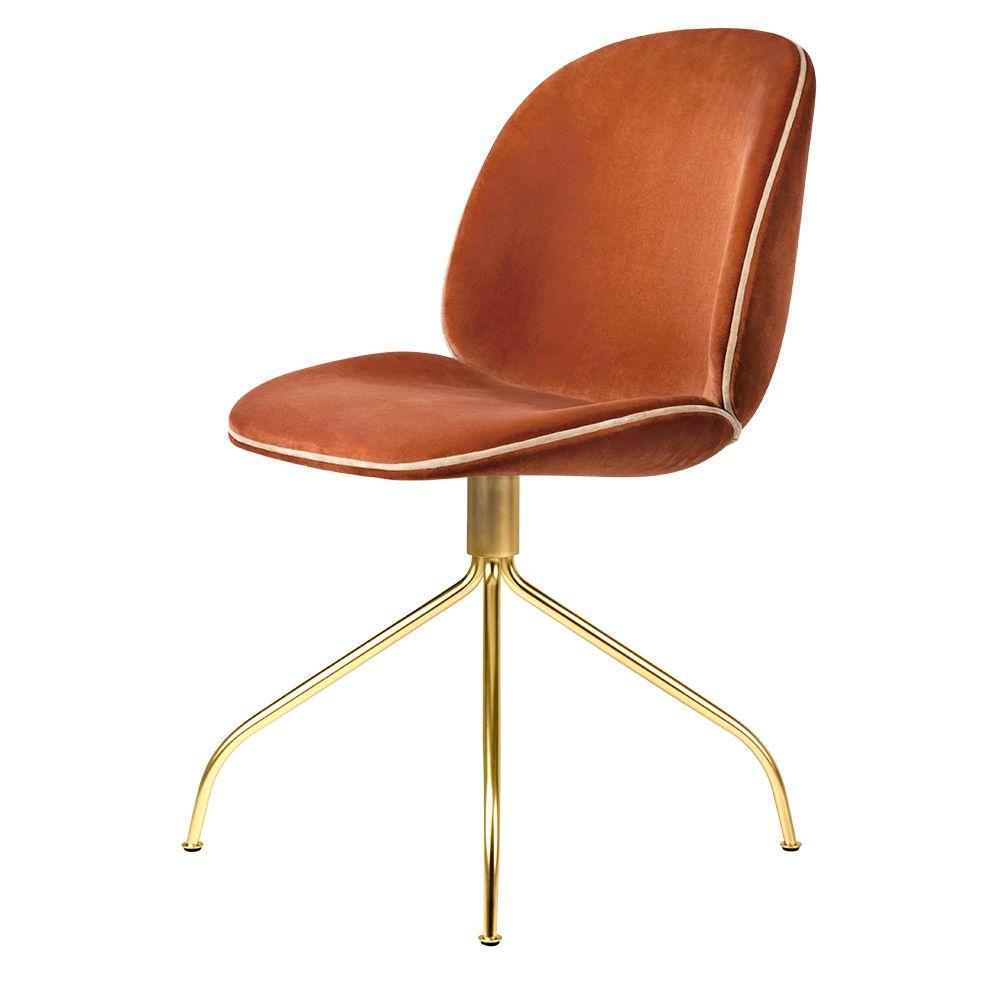 Amazing Beetle Meeting Chair Red Velvet Pink Velvet Piping Brass Theyellowbook Wood Chair Design Ideas Theyellowbookinfo