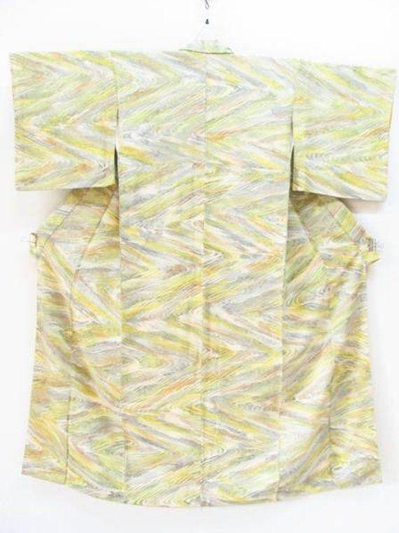 41d225db6 Kimono Japan, Silk running water pattern kimono, Vintage Kimono, seigaiha  pattern kimono,