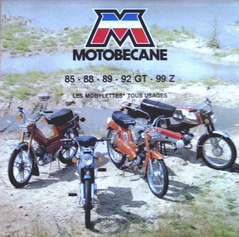 Motobcane Les Mobylettes 85 88 89 92GT 99Z