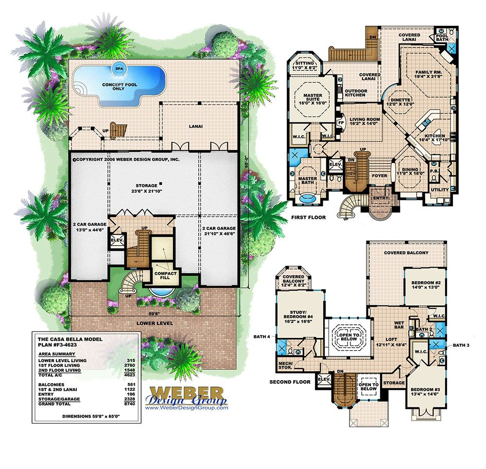 Beach House Plan Coastal Mediterranean Style Home Floor Plan Mediterranean House Plans Mediterranean Floor Plans Beach House Plan