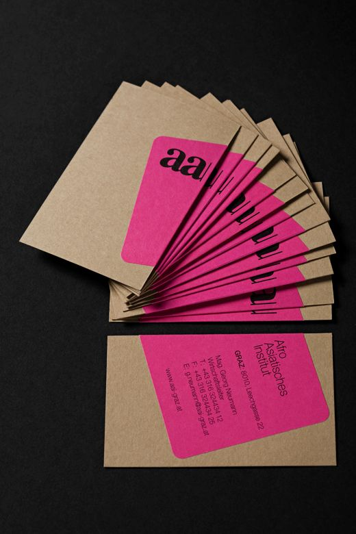 Aai graz brand identity via von k print a sticker and wrap it around idea for business cards