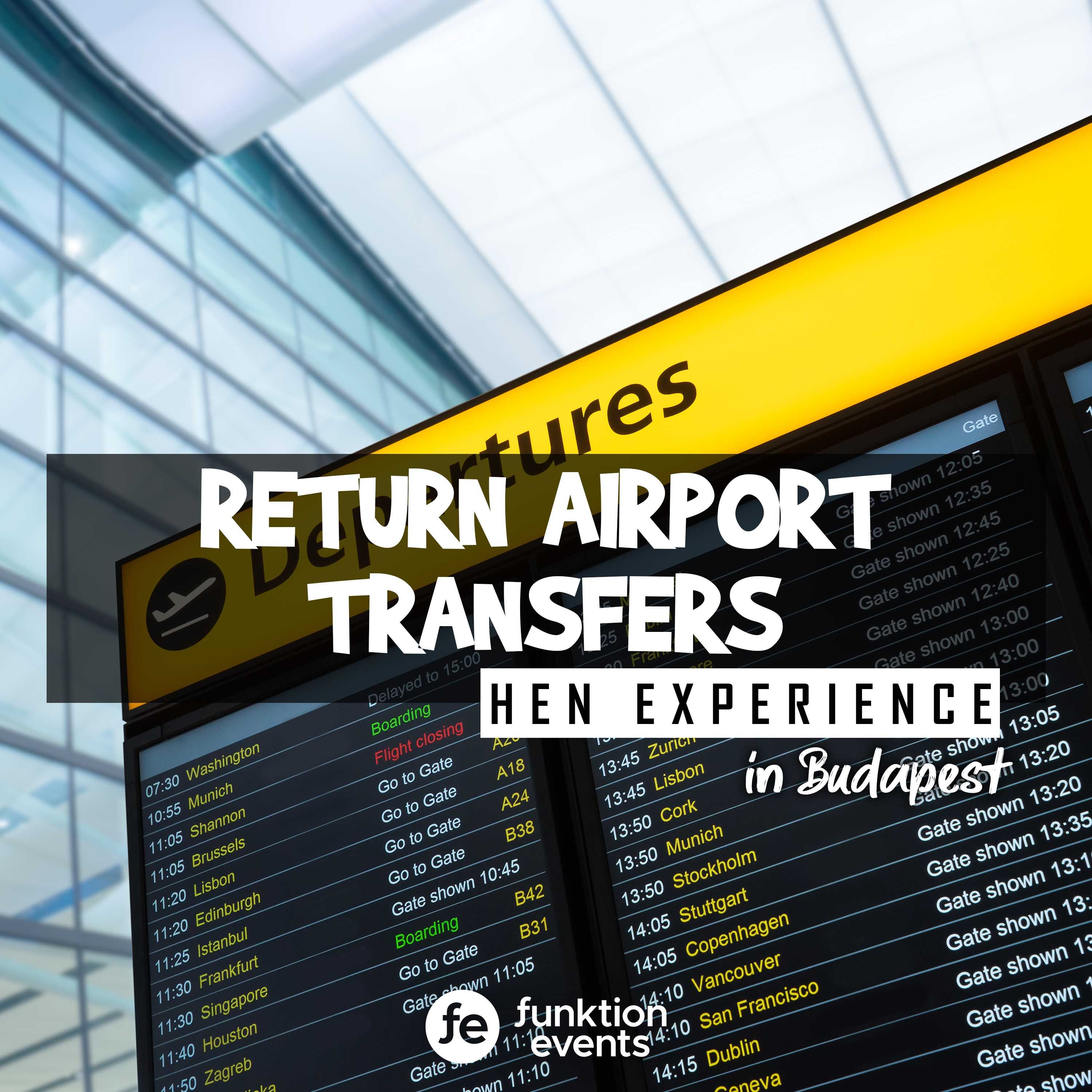 Return Airport Transfers Hen Party In Budapest Hen Party Hen Do Budapest