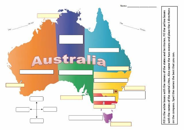 the australian states territories and capital cities map quiz for grades 3 to 8 teach in a box