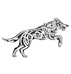 Wolf Tattoo Vector Images (over 3,000)