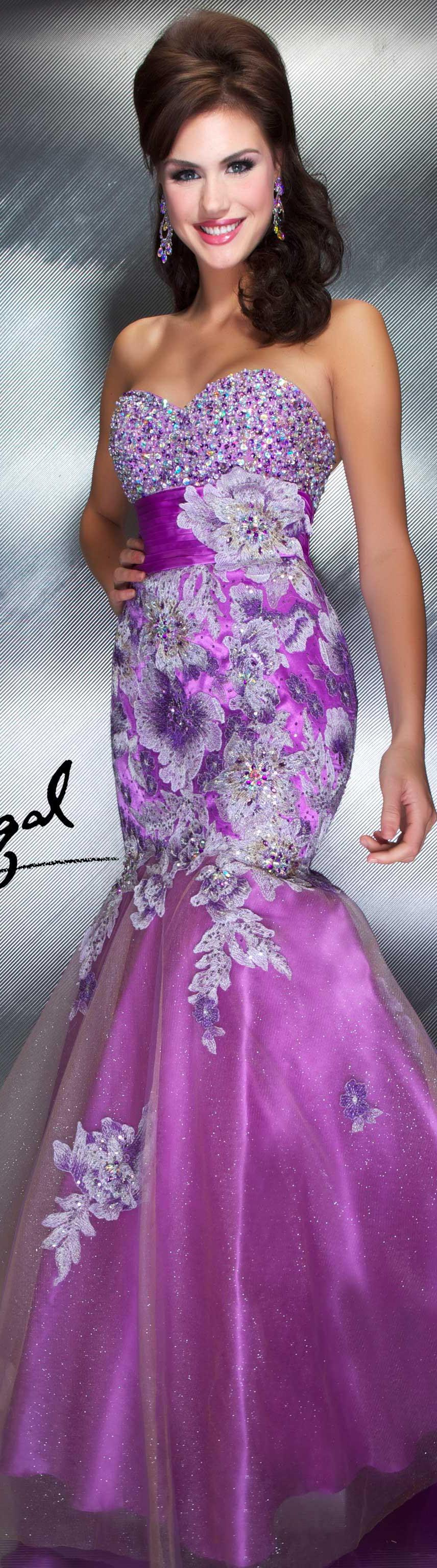 Mac Duggal couture dress orchid strapless | Purple Passion ...