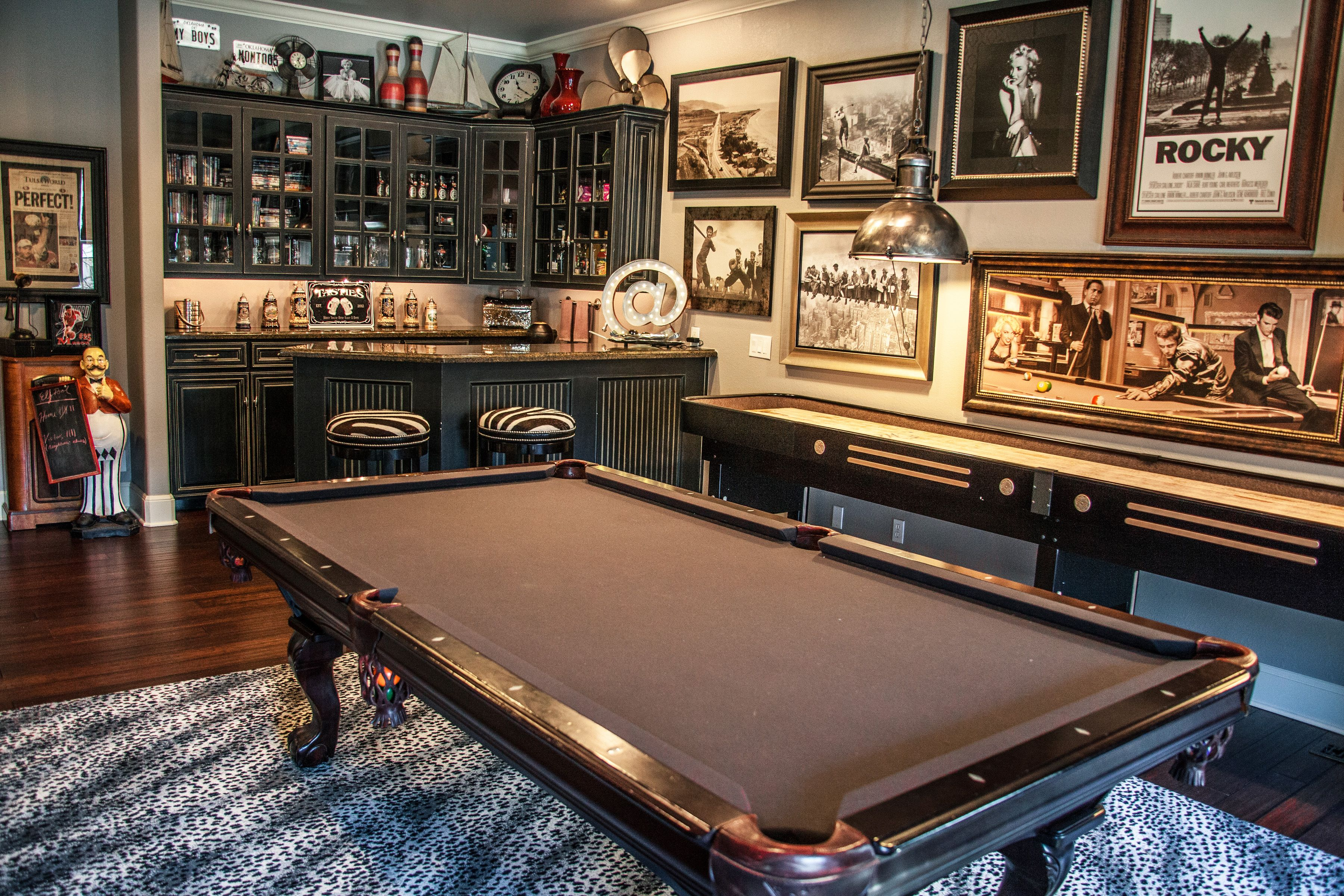 Some games are timeless for a reason. Game Room Design by ME www.meinteriorsok.com | Pool table ...