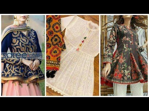 34258d81 Beautiful and Stylish Short Frocks and Short Shirts Style 2018-19 - YouTube