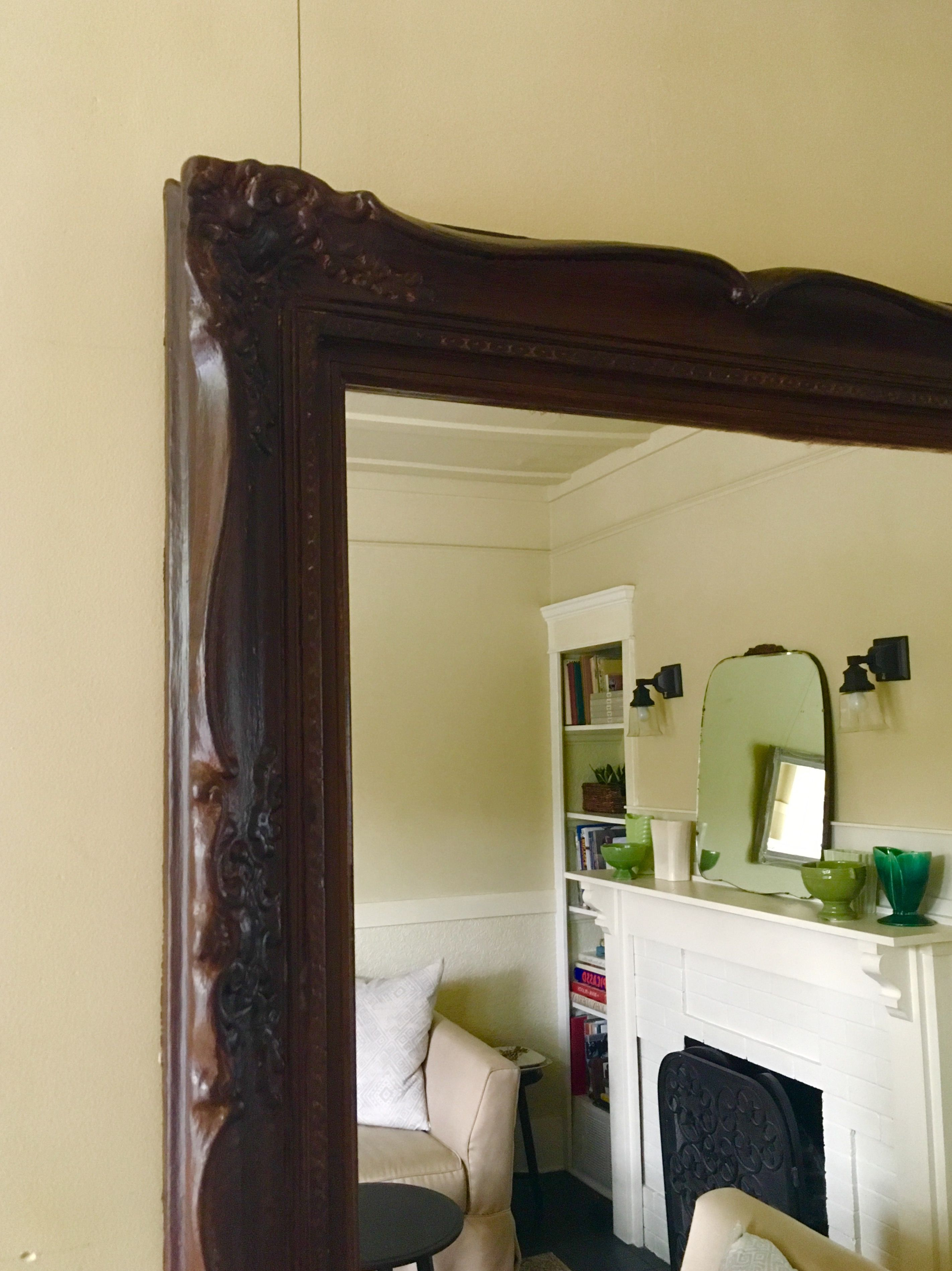 Annie Sloan Honfleur on Mirror Frame with a Walnut Tone Wood Poly ...