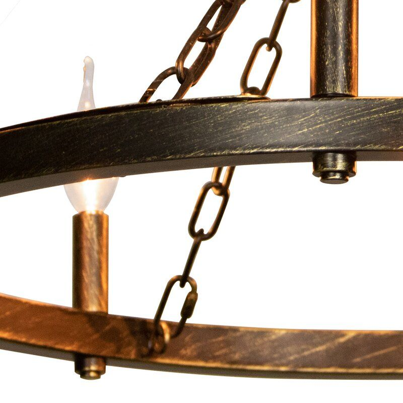 Adamson 8 Light Candle Style Wagon Wheel Chandelier Wagon Wheel Chandelier Wagon Wheel Chandelier Diy Candle Styling