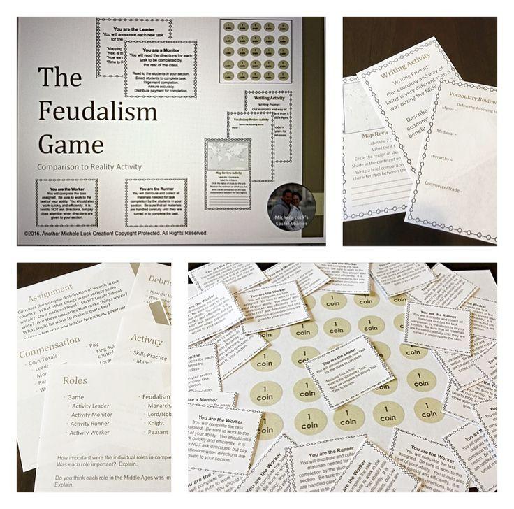 Printable Worksheets feudalism worksheets : Experiential Exercises like this Middle Ages Feudalism Game help ...