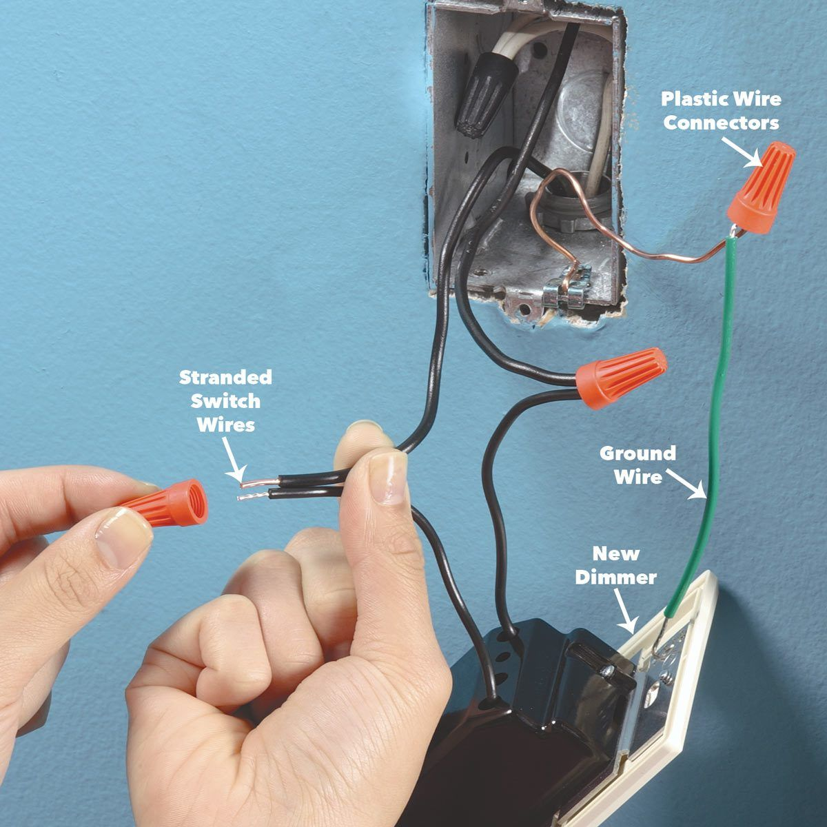 How to Install a Dimmer Switch   Dimmer light switch, Light switch ...