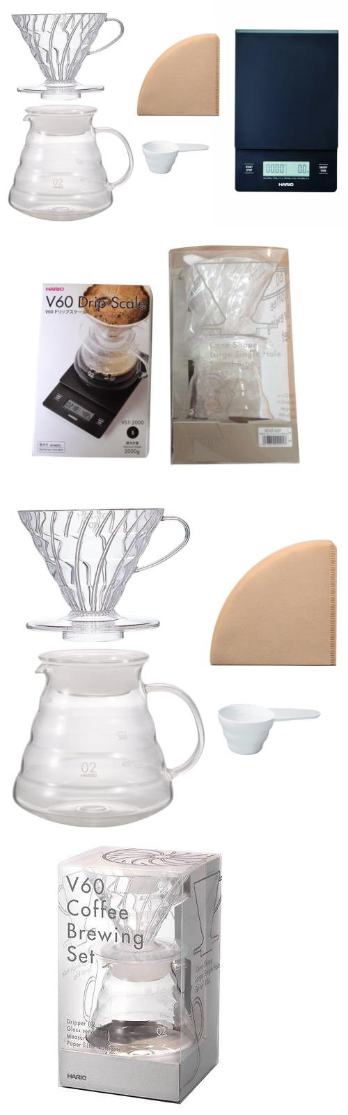 Other Coffee And Tea Makers 159902 Hario V60 Scale Brewing Set Drip Vst 2000b For Careful Measuring