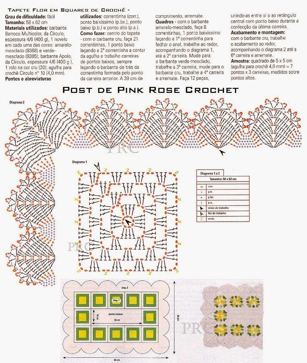 tapete-flor-em-squares-croche-graf-prosecrochet1.jpg (984×1161 ...