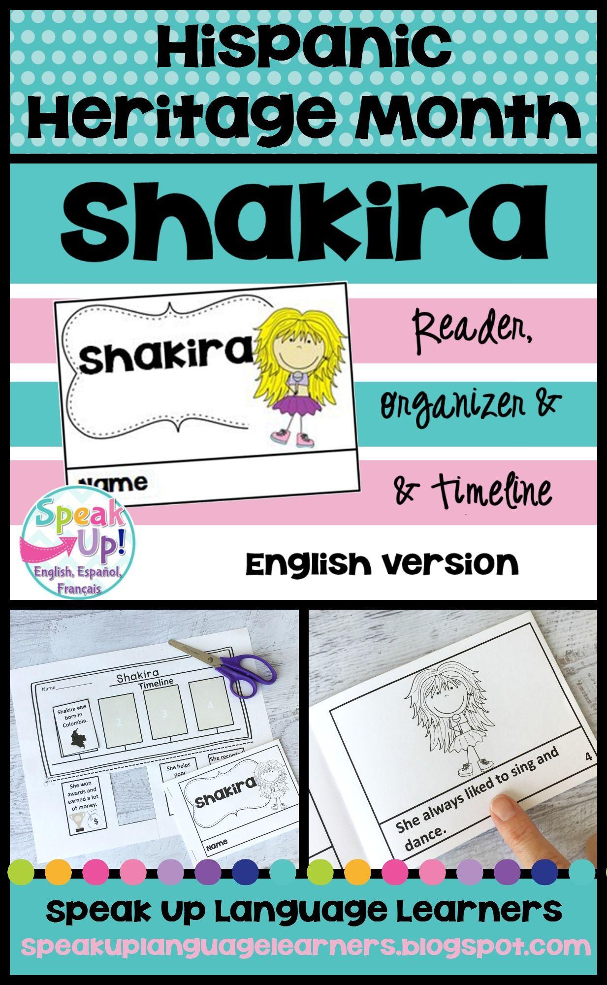 Shakira Reader Hispanic Heritage Month Organizer Timeline English Version Hispanic Heritage Month Hispanic Heritage Hispanic Heritage Month Lessons [ 2000 x 1233 Pixel ]