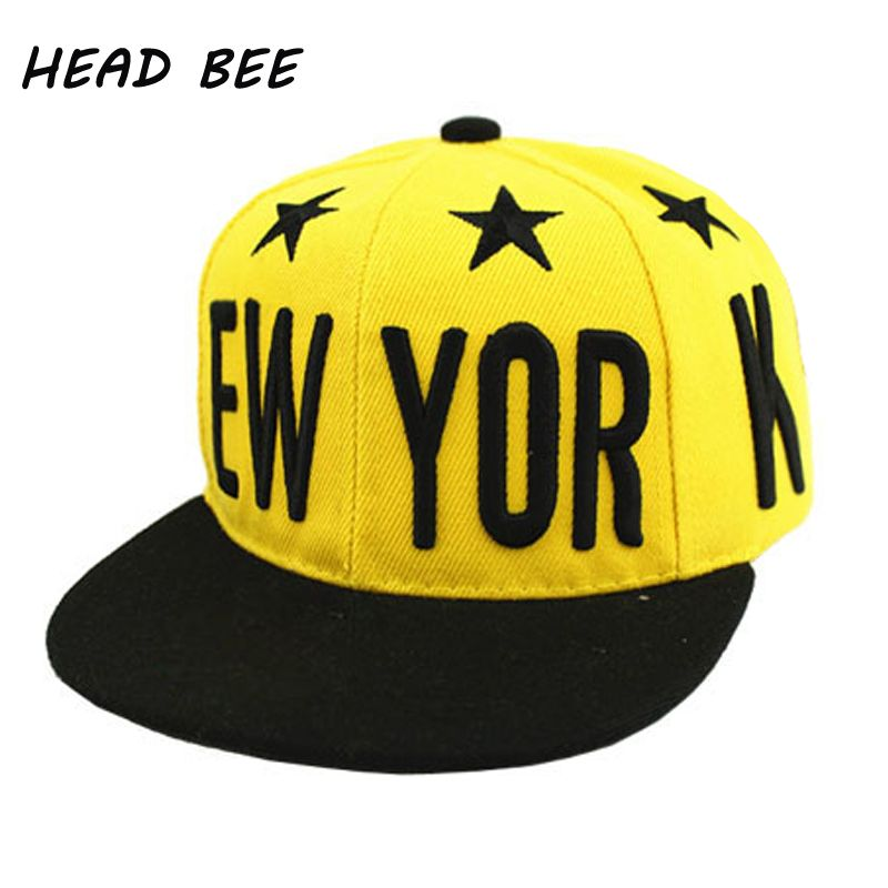 6231267806e Click to Buy     HEAD BEE  Fashion Baseball Cap Children Summer Style  Letter NEW YORK Star Snapback Cap Hip Hop Hats Casquette For Girls and Boy   Affiliate