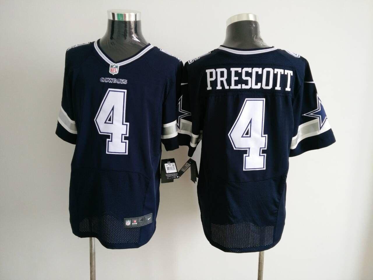 premium selection d6f6d 6aed1 Nike Cowboys 4 Dak Prescott Elite Blue Jersey | NFL Dallas ...