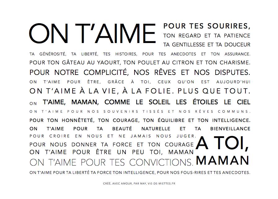 Affiche Carte Fete Des Meres A Imprimer Citation Pinterest