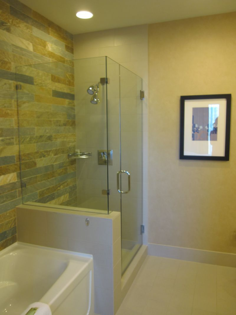 glass showers | ... Your Bathroom Beautiful: Glass enclosed shower ...