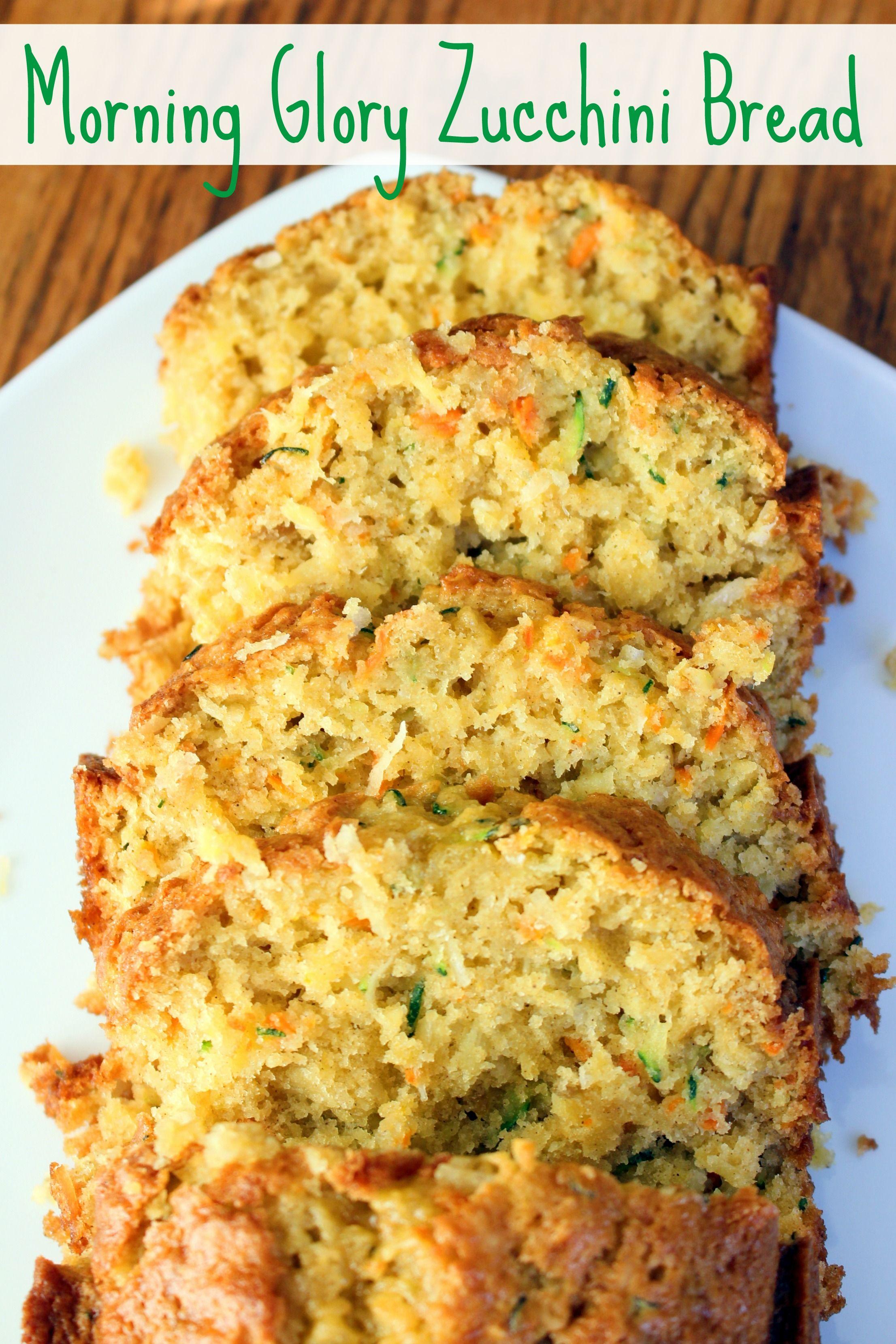 Morning Glory Zucchini Bread Recipe Zucchini Bread Recipes