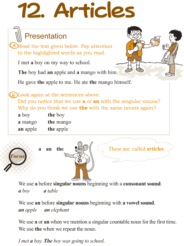 Grade 3 Grammar Lesson 12 Articles - Good Grammar Grammar Lessons,  English Grammar, Good Grammar