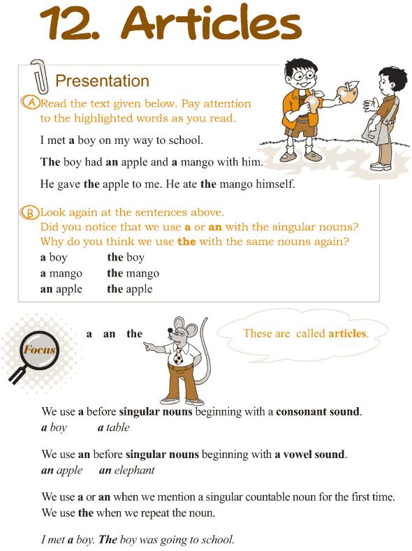 Grade 3 Grammar Lesson 12 Articles | grade 3 grammar | Pinterest ...