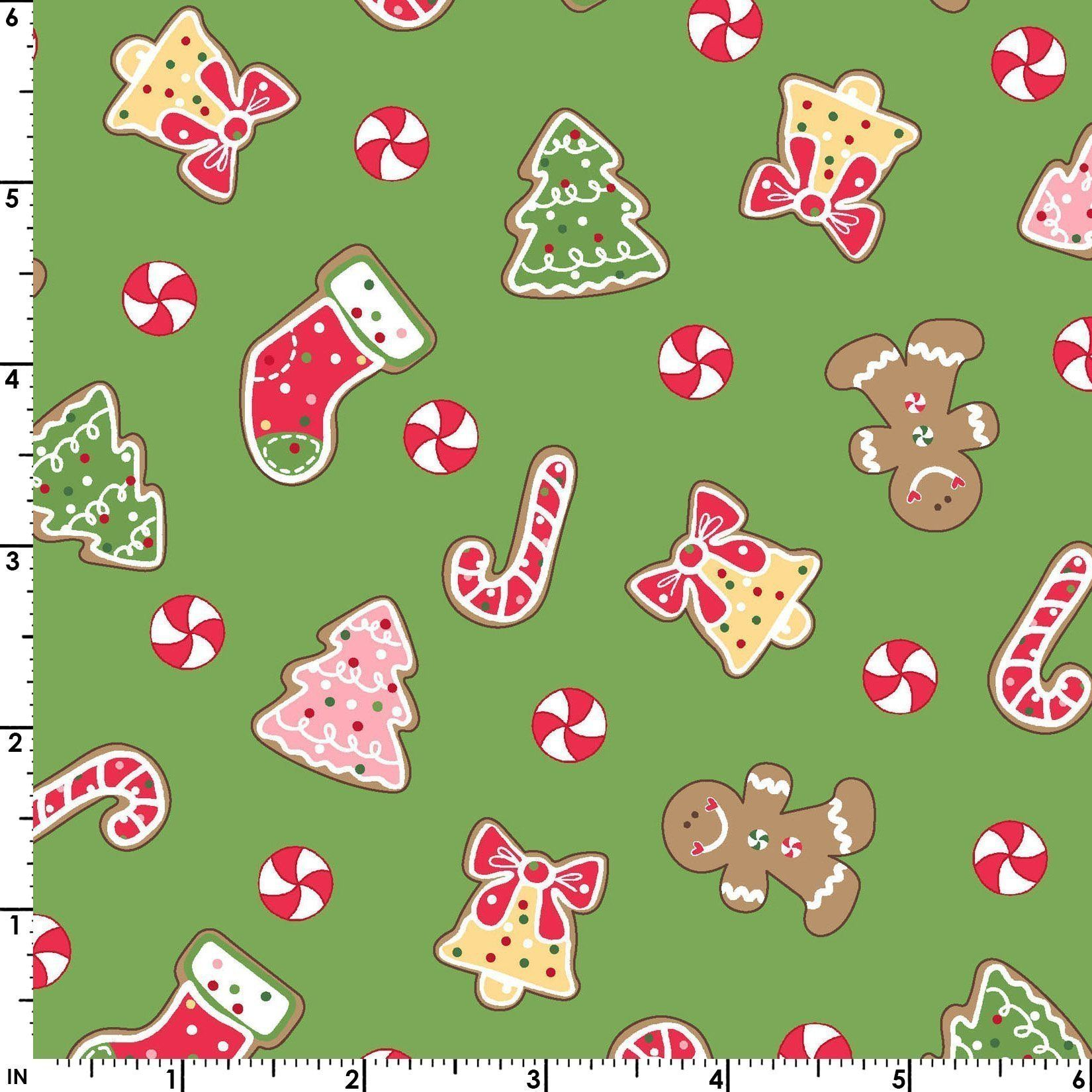 Kimberbell fabric per yard We Wisk You a Merry Christmas