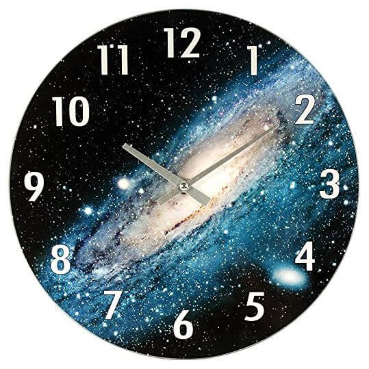 53 Astronomy Gifts For Space Lovers Discovergeek Geek Gifts And Shirts Wall Clock Clock Colorful Wall Clocks