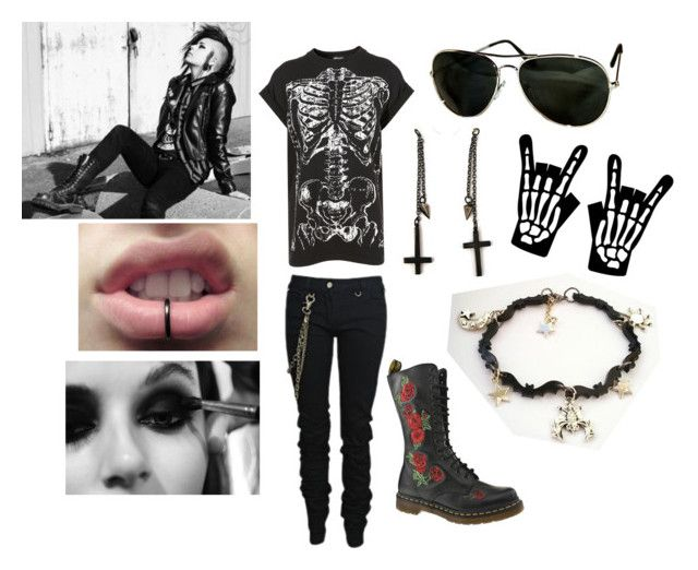 """""""New Age Punk"""" by kgirl55 ❤ liked on Polyvore featuring Karl Lagerfeld, Dr. Martens, Vans, Alex and Chloe and POLICE"""