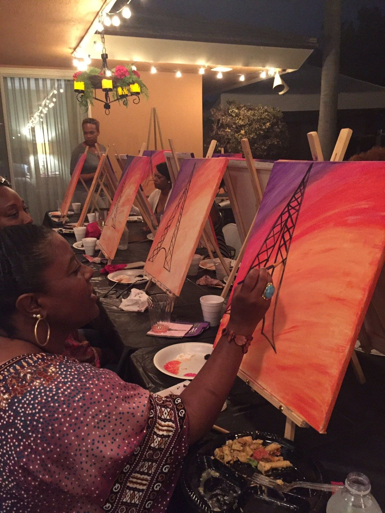 How To Host Your Own Paint And Sip Party Wine Paint Party Paint And Sip Wine And Paint Night