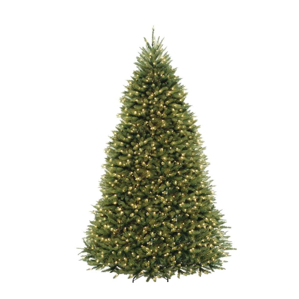 Home Accents Holiday 10 Ft Dunhill Fir Pre Lit Artificial Christmas Tree With 1200 Clear Mini Lights Duh3 100lo S The Home Depot Pre Lit Christmas Tree Christmas Tree Clear Lights Artificial Christmas Tree
