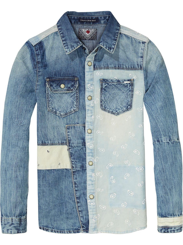 e2928ee575 Camisa tejana de patchwork
