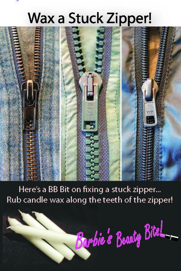 How to fix stuck zipper on dress