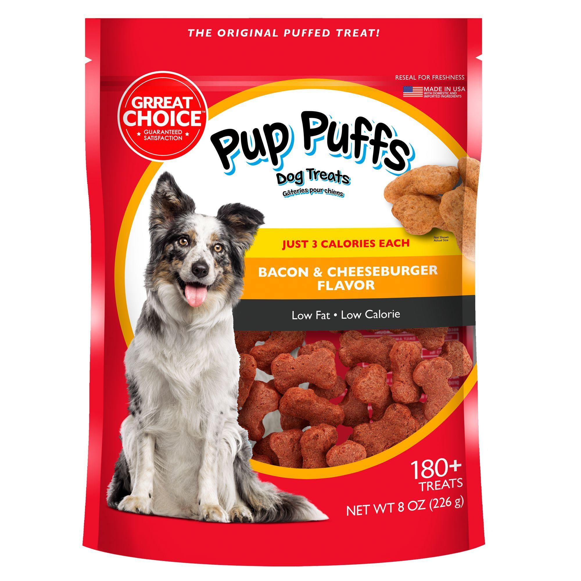 Grreat Choice Pup Puffs Dog Treats Size 8 Oz Great Choice Blue